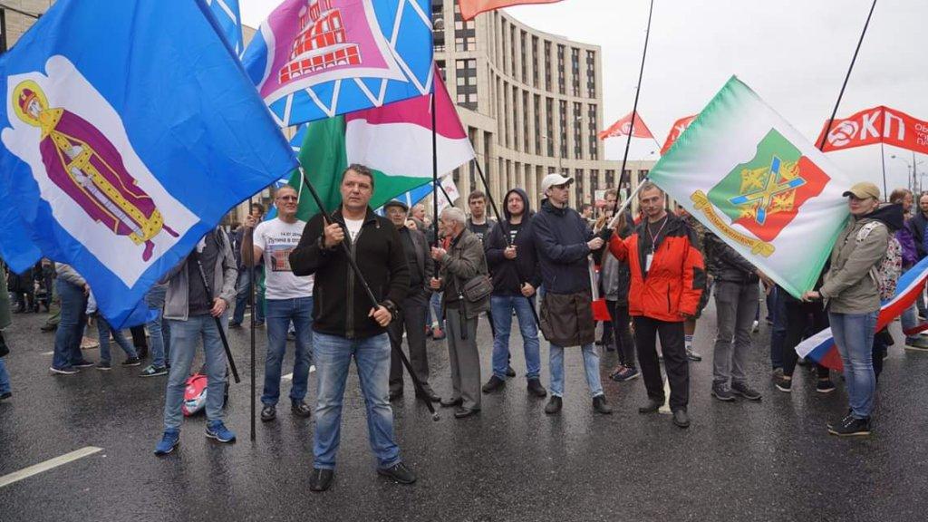 Владимир Залищак на митинге