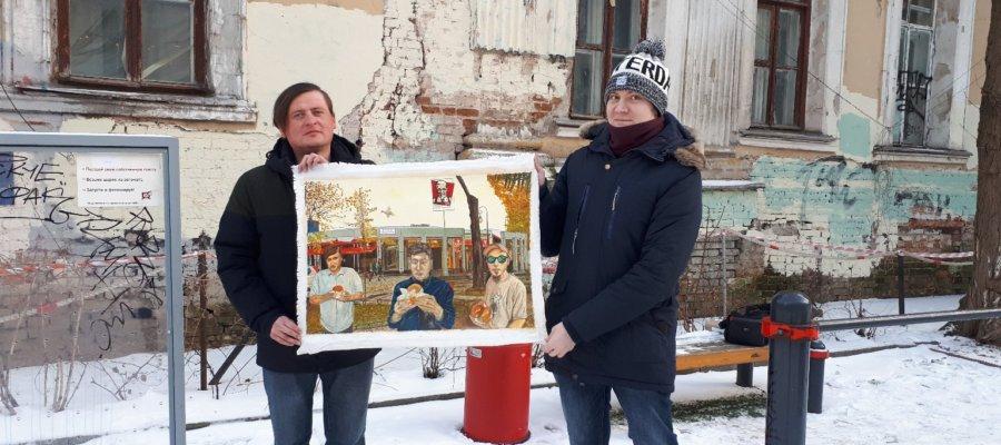 Художник Андрей Андреев - «Дегустаторы снимают репортаж»